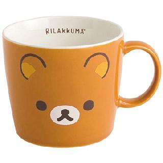 Rilakkuma拉拉熊新版臉型馬克杯。懶熊