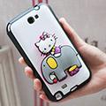 日本HELLO KITTY 黏貼式萬用支架_大象