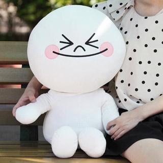 Line Friends大型毛绒公仔娃娃(L號)。饅頭人