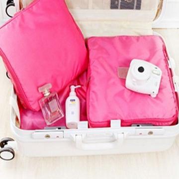 May Shop 【BFJ08E1E5】旅行必備多功能整理收納三件套大容量便攜網袋