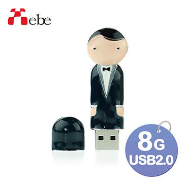 Xebe集比 結婚新郎造型USB精品隨身碟