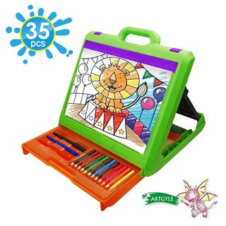 【美國ARTGYLE】 Kids黑白板外出童趣繪畫綜合套組(35PCS)