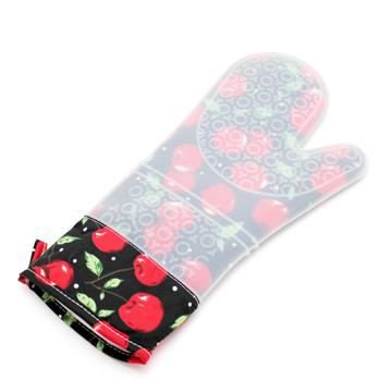 彩繪隔熱長手套-櫻桃