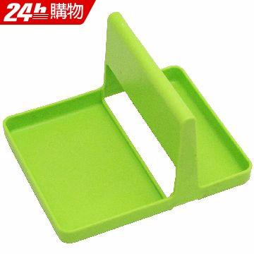 月陽純色系雙槽多用途湯勺架鍋蓋架置物架超值2入(A0180)