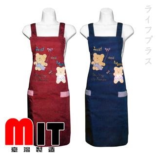 卡通熊貼布圍裙