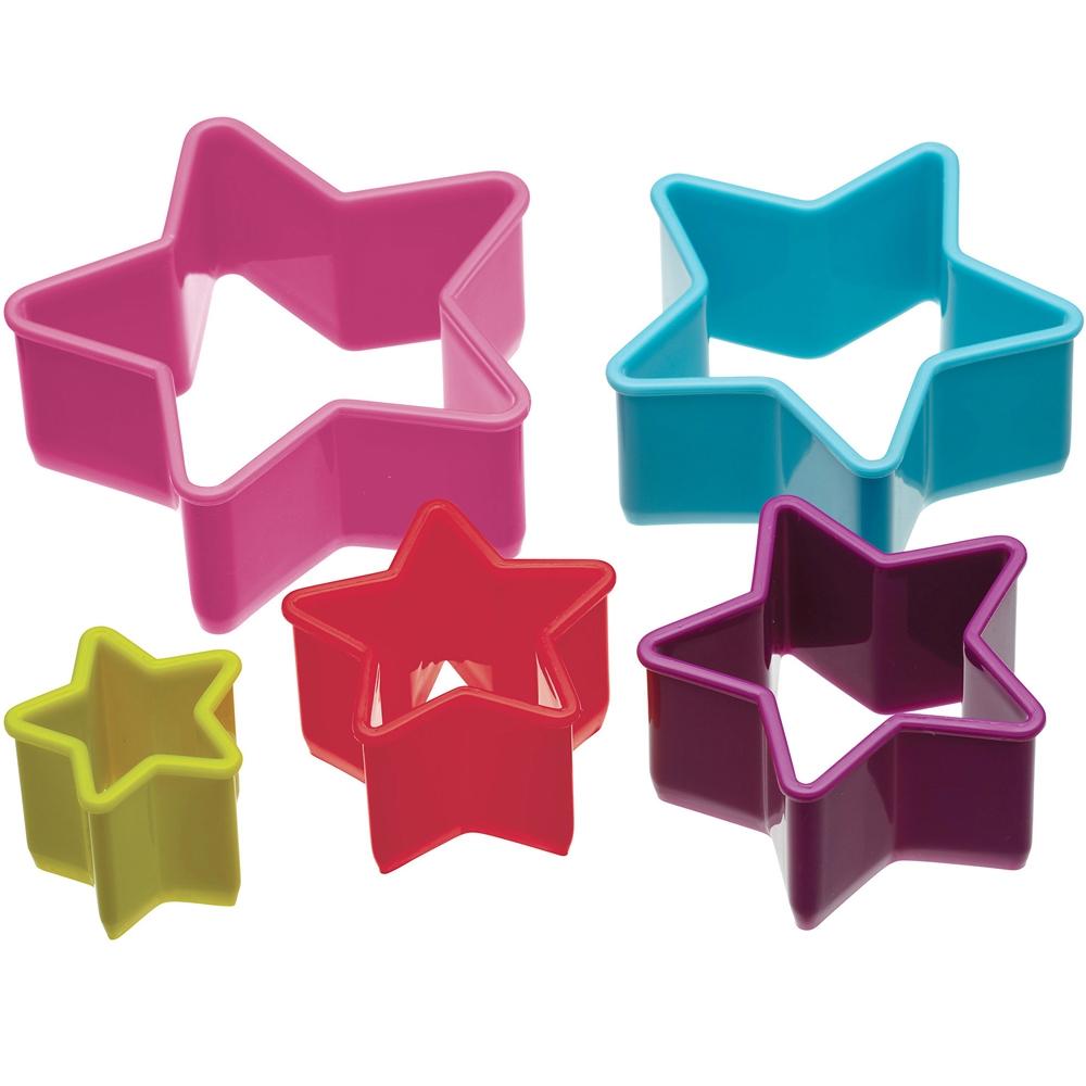 KitchenCraft 餅乾切模5件(星星)