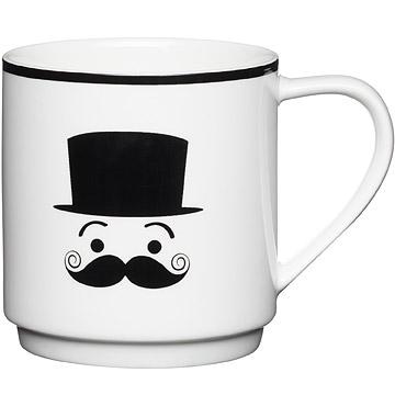 KitchenCraft 黑鬍子紳士馬克杯(害羞)