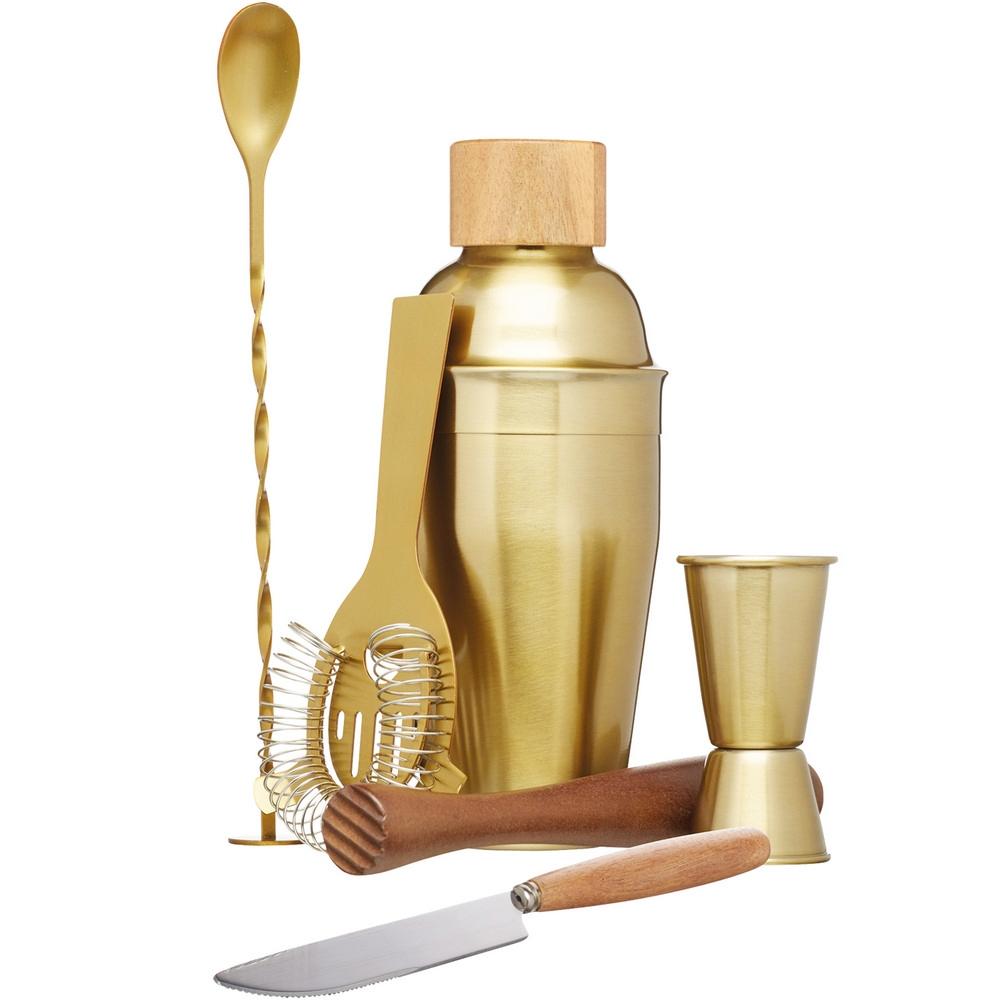 KitchenCraft 雪克杯+調酒量杯工具6件