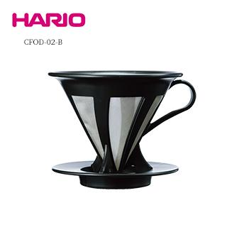 《HARIO》V60免濾紙黑色濾杯/ CFOD-02B