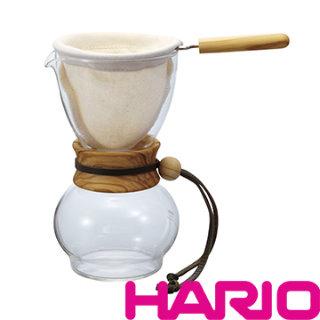 HARIO 濾布橄欖木手沖咖啡壺 1~2杯 DPW-1-OV