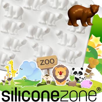 【Siliconezone 】施理康ZOO耐熱北極熊巧克力模/冰模