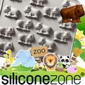 【Siliconezone 】施理康ZOO耐熱犀牛巧克力模/冰模