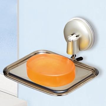 日本ASVEL不鏽鋼強力吸盤方型肥皂架