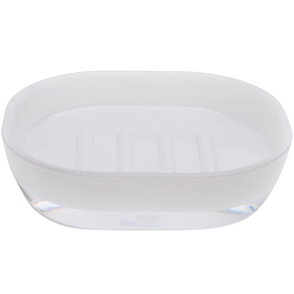 EXCELSA 晶透肥皂盒(白)