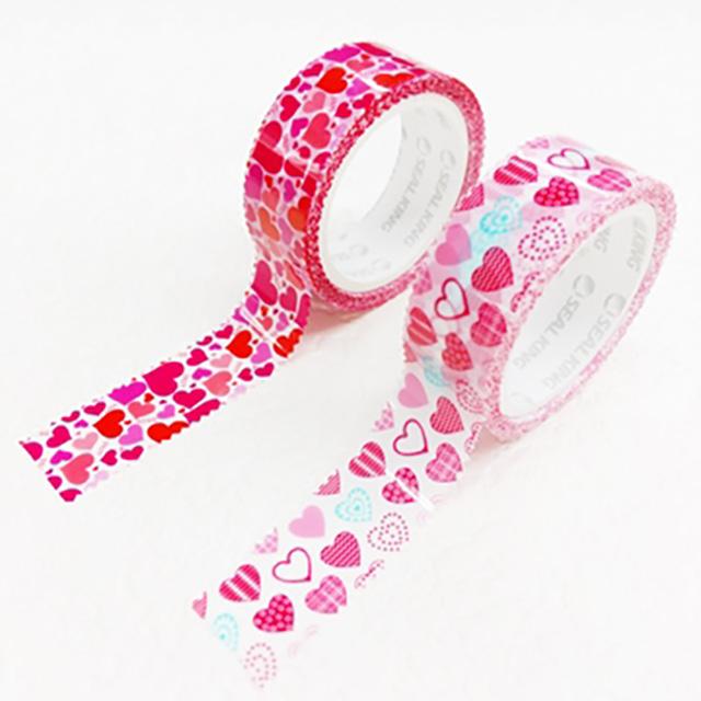 【ESTAPE】OPP裝飾膠帶2入(心花朵朵*1+心心相印*1)