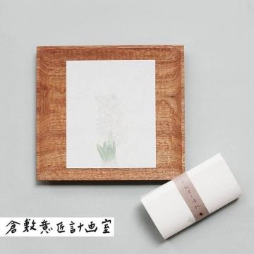 [日本原裝 倉敷意匠計画室] 赤飯堂/食品與包裝用紙24枚入・白色風信子