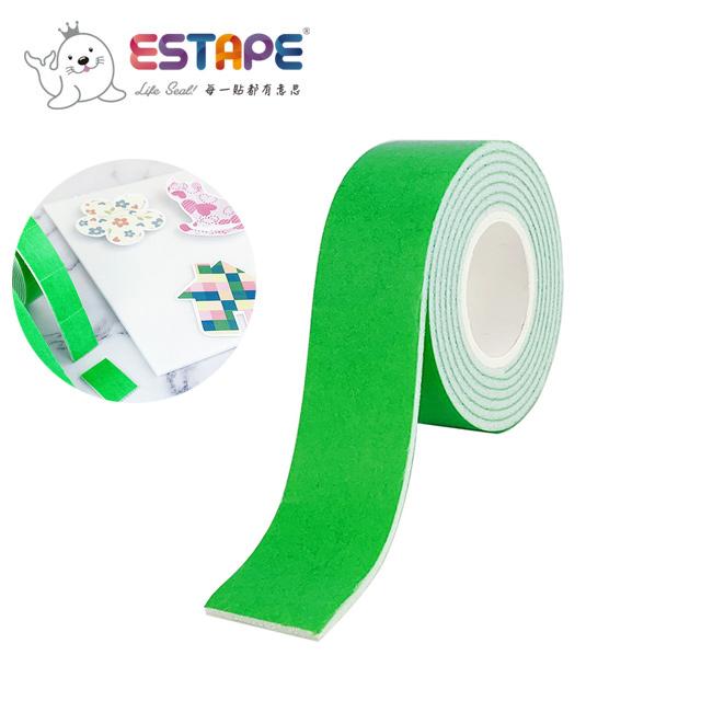 【ESTAPE】雙面泡棉膠帶|24mm x 1M(2mm厚度/DIY/手作/美勞/黏貼)