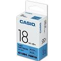 CASIO 【共有9色】標籤機專用色帶-18mm藍底黑字XR-18BU1