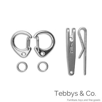 美國 TEC Accessories P-7 背夾扣鑰匙圈 (2入組)