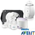 PHILIPS AVENT 輕乳感PP專業型雙邊電動吸乳器+快速食品加熱器(E65A311017+046016)