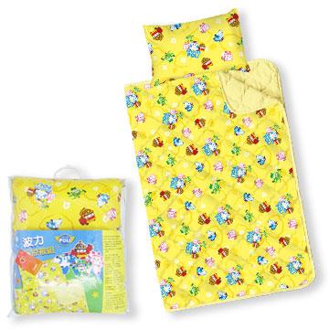 【BabyTiger虎兒寶】MIT台灣製卡通圖案幼教兒童睡枕頭+棉被組 - POLI 救援小英雄 波力 ROBOCAR
