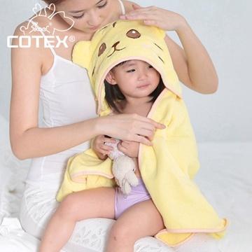 【COTEX可透舒】可愛造型浴巾--泰可虎(鵝黃色)