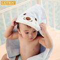 COTEX寶寶浴包巾(粉藍)