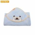 COTEX微笑貝爾熊浴巾(粉藍)