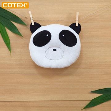 COTEX 竹纖維嬰兒枕 塑頭型枕 熊貓造型 適用於嬰兒床 嬰兒手推車