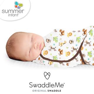 美國 Summer infant - SwaddleMe 嬰兒包巾 (薄款-純棉 動物園-小號)