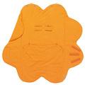 荷蘭 wallaboo Fleur 花辦四季包巾被-橘色