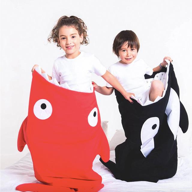 【西班牙製】鯊魚咬一口 BabyBites 100% 純棉手作嬰兒/幼兒園睡袋|防踢被《輕量兒童版》小殺人鯨