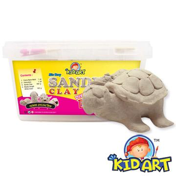 (KID ART) 美國創意黏土存錢筒-沙雕黏土(海龜)
