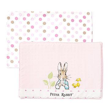 【奇哥】花園比得兔乳膠枕-粉紅 (附枕套)