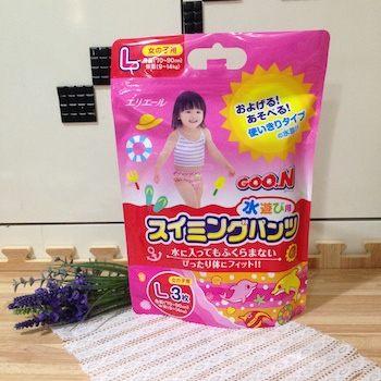 日本 大王 GOO.N 戲水專用游泳尿布-L號 (女生款)