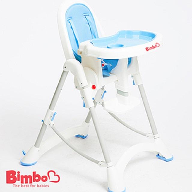 【BIMBO】台灣製造 安全兒童餐椅 - 淺藍