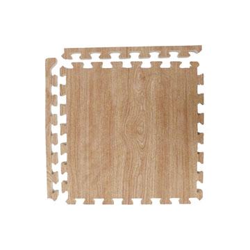 【新生活家】EVA耐磨櫸木紋附收邊45x45x1.2cm (淺色4入)