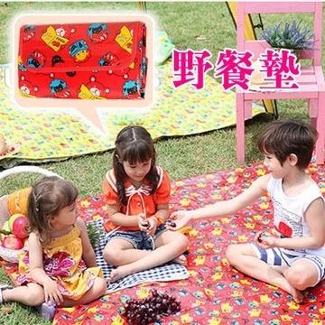 【Kids Zoo】童趣造型野餐墊_讀書小熊