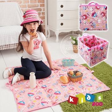 【Kids Zoo】雙面兩用野餐墊_草莓