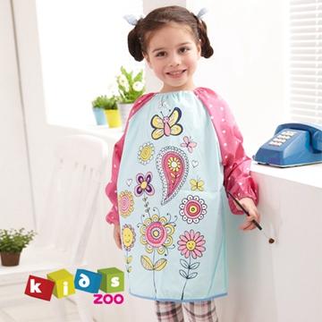 【kids zoo】童趣棉質長袖畫畫衣_花朵蝴蝶