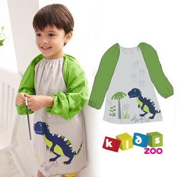 【kids zoo】童趣棉質長袖畫畫衣_恐龍