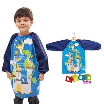 【kids zoo】童趣棉質長袖畫畫衣_城堡