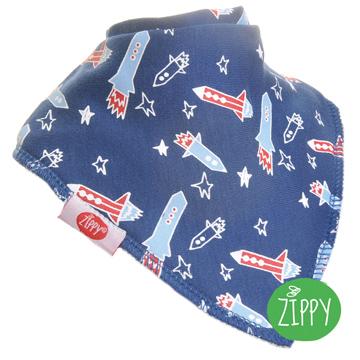 英國Zippy 幼兒時尚口水巾-火箭