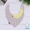 【QBabe】純棉可愛動物造型三角圍兜口水巾-鴨子