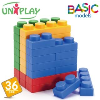 UNiPLAY抗菌軟積木BASIC款 36PCS