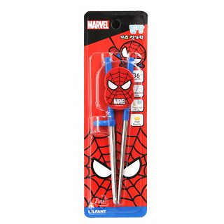 韓國 Marvel 蜘蛛人 SPIDER-MAN 不鏽鋼學習筷 第二階段(5111)