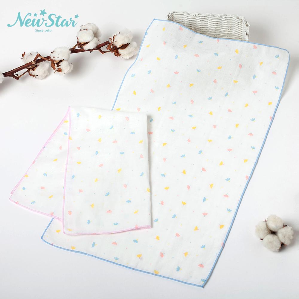 New Star 100%純棉紗 布巾l洗澡巾(碎花、2條入)