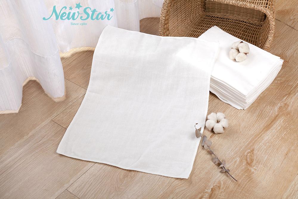 New Star 新生兒 超柔軟纖細 環保棉紗尿布l環保布尿布l環保紗 布尿布l可洗布尿布(小、12條入)