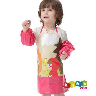 【kids zoo】童話系列兒童圍裙防水畫畫衣加袖套_小紅帽