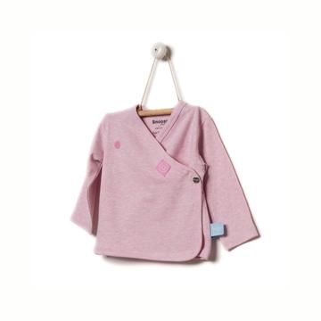 荷蘭Snoozebabay新生兒長袖開襟上衣-窗花粉/0-6個月